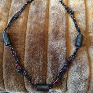 Jewelry - 🔟 For 🔟NWT Black Beaded Necklace
